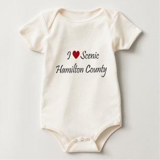 I Liebe landschaftliches HamiltonbCounty Baby Strampler