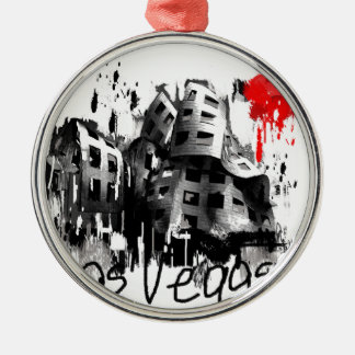I Liebe Las Vegas Silbernes Ornament