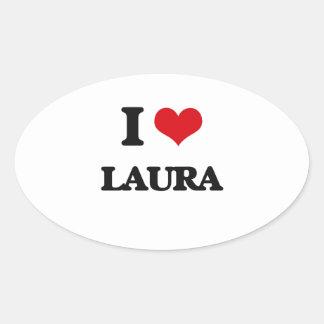 I Liebe Laura Ovaler Aufkleber