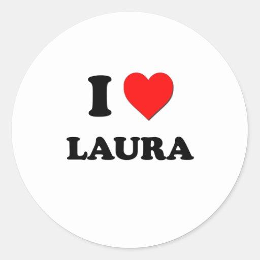 I Liebe Laura Runder Sticker