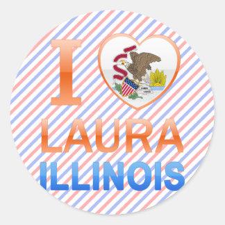 I Liebe Laura, IL Runder Aufkleber