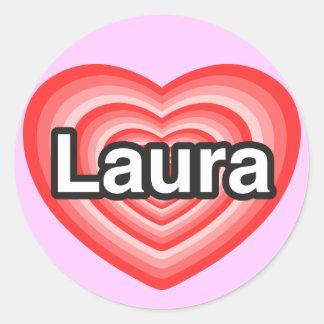 I Liebe Laura Liebe I Sie Laura Herz Sticker