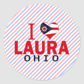 I Liebe Laura, Ohio Runder Aufkleber