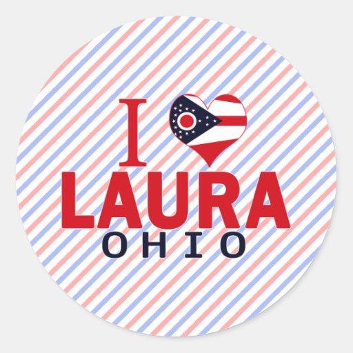 I Liebe Laura, Ohio Runder Sticker