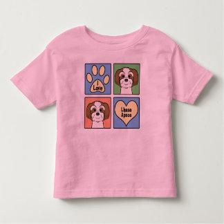 I Liebe Lhasa Apsos Kleinkind T-shirt