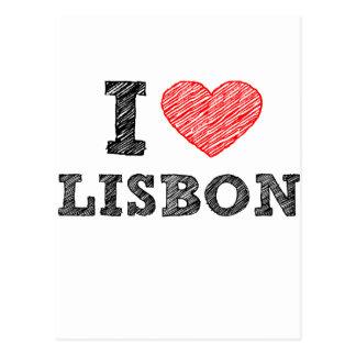 I Liebe Lissabon Postkarte