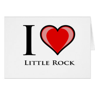 I Liebe Little Rock Karte