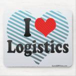 I Liebe-Logistik Mousepad