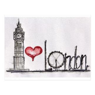 I Liebe London Postkarte