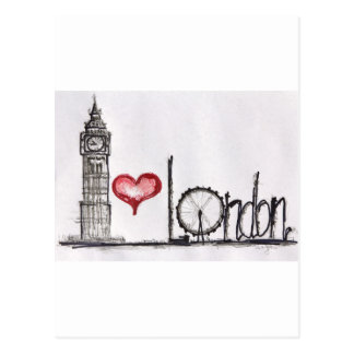 I Liebe London Postkarten