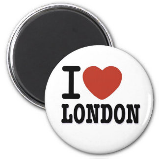 I LIEBE LONDON RUNDER MAGNET 5,1 CM