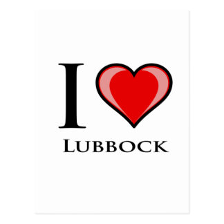 I Liebe Lubbock Postkarte