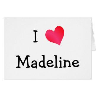 I Liebe Madeline Karte