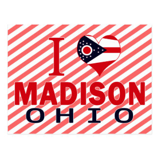 I Liebe Madison, Ohio Postkarte