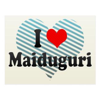 I Liebe Maiduguri, Nigeria Postkarte
