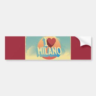 I Liebe Mailand Autoaufkleber