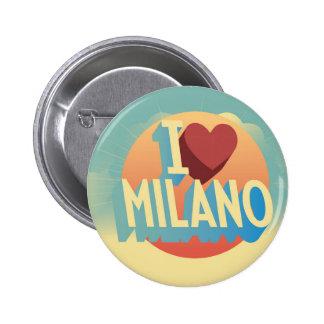 I Liebe Mailand Runder Button 5,1 Cm