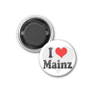 I Liebe Mainz, Deutschland Kühlschrankmagnete