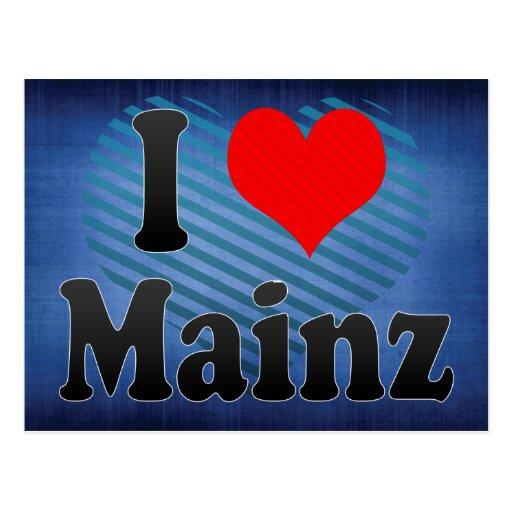 I Liebe Mainz, Deutschland Postkarten