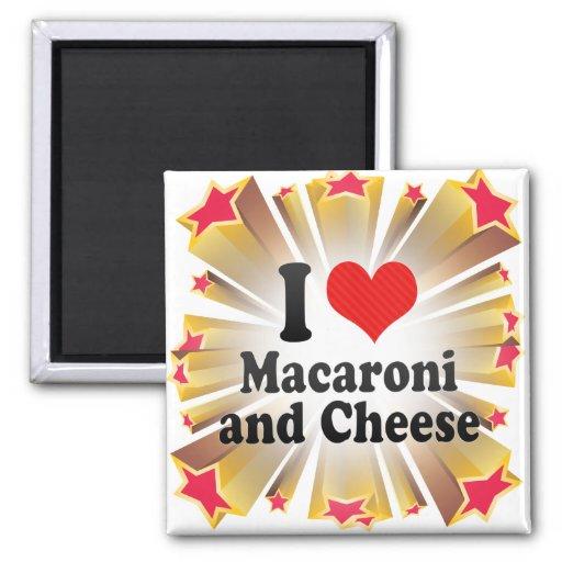 I Liebe-Makkaroni+und Käse Magnete