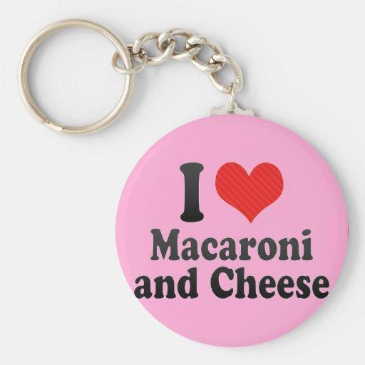 I Liebe-Makkaroni+und Käse Schlüsselbänder