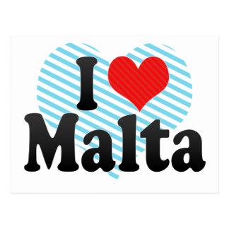 I Liebe Malta Postkarte