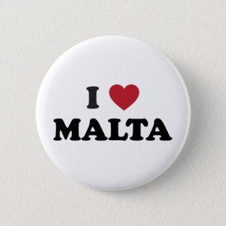 I Liebe Malta Runder Button 5,1 Cm