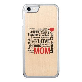 I Liebe-Mamma - MehrprozeßvorlagenKochs-Mutter Carved iPhone 8/7 Hülle