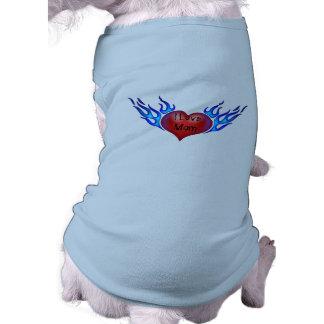 I Liebe-Mamma tätowierter Herz-Hundeshirt T-Shirt