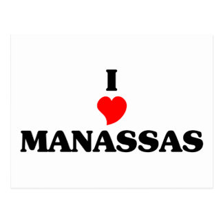 I Liebe Manassas Postkarte