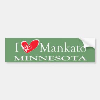I Liebe Mankato Minnesota Autoaufkleber