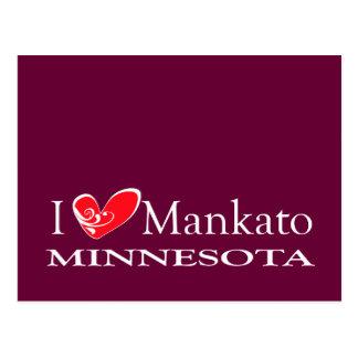 I Liebe Mankato Minnesota Postkarte
