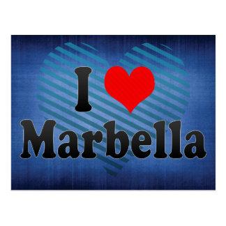 I Liebe Marbella, Spanien Postkarte