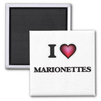 I Liebe-Marionetten Quadratischer Magnet