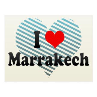 I Liebe Marrakesch, Marokko Postkarte