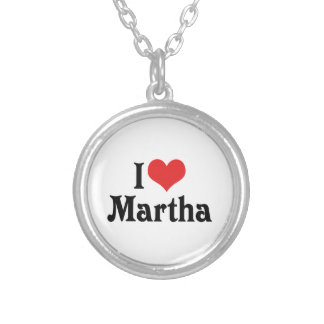 I Liebe Martha Versilberte Kette