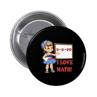 I Liebe-Mathe Anstecknadelbutton