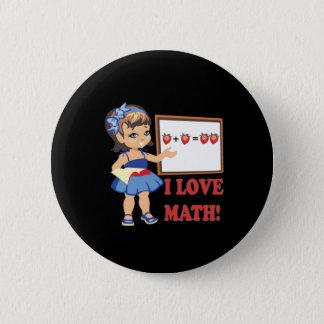I Liebe-Mathe Runder Button 5,1 Cm