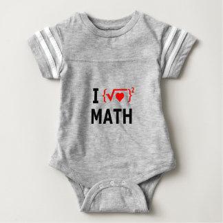 I Liebe-Mathe-Weiß Baby Strampler