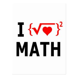 I Liebe-Mathe-Weiß Postkarte