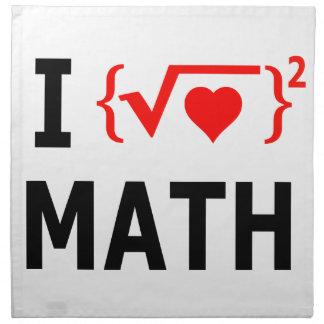 I Liebe-Mathe-Weiß Serviette