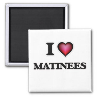 I Liebe-Matineen Quadratischer Magnet