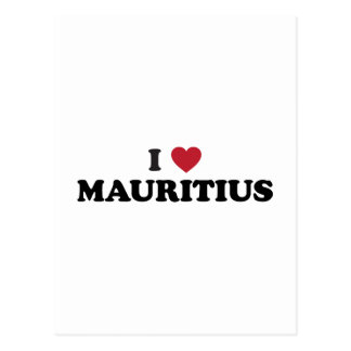 I Liebe Mauritius Postkarte