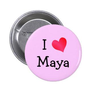 I Liebe-Maya Runder Button 5,1 Cm