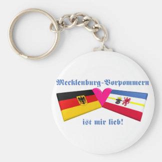 I Liebe-Mecklenburg-Vorpommern ist-MIR lieb Standard Runder Schlüsselanhänger