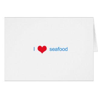 I Liebe-Meeresfrüchte-Logo Karte