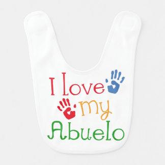 I Liebe mein Abuelo Baby-Säuglings-Schellfisch Babylätzchen