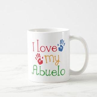 I Liebe mein Abuelo (Handprints) Kaffeetasse