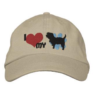 I Liebe mein Affenpinscher gestickter Hut