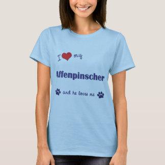 I Liebe mein Affenpinscher (männlicher Hund) T-Shirt